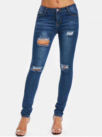 Distressed Five Pockets Jeans