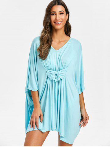 e20e3cd0a6 Batwing Sleeve Long Dress - Free Shipping