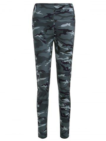 Wide Waistband Camo Sporty Leggings