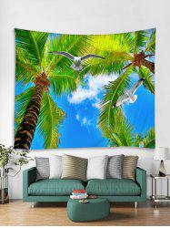 Palm Tree Pigeon Print Tapestry Wall Hanging Art Decoration -