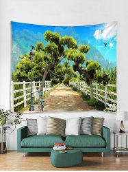 Forest Road Print Tapestry Wall Hanging Art Decoration -