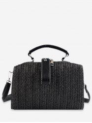 Chic Straw Woven Tote Bag -