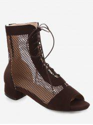 Chunky Heel Lace-up Decoration Boots -