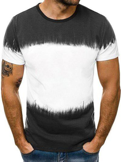 Ombre Design Casual Short Sleeves T-shirt, White