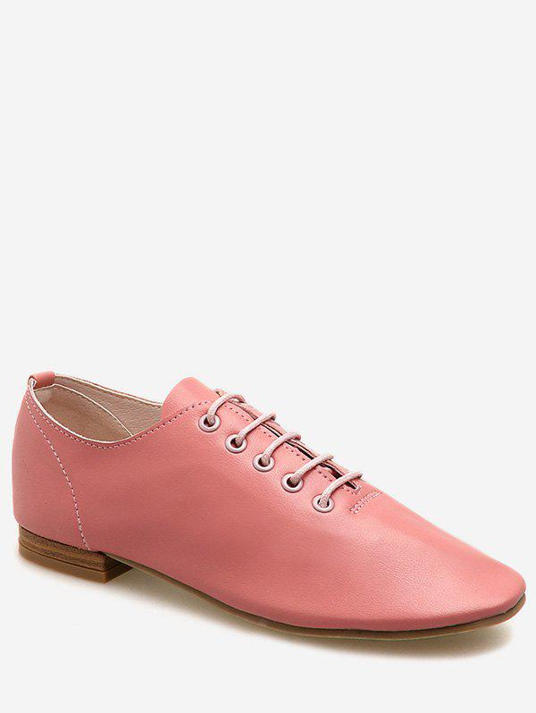 Buy Lace Up Oxford Flat Shoes