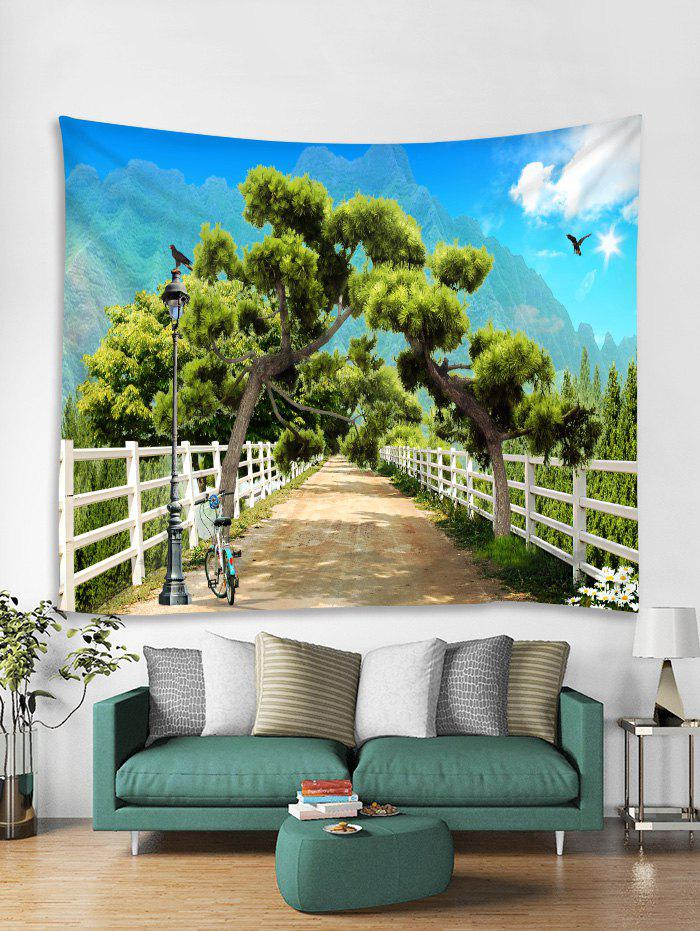 Chic Forest Road Print Tapestry Wall Hanging Art Decoration