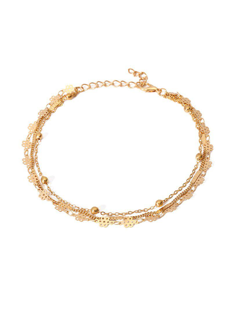 Affordable Simple Multilayered Geometric Beach Anklet