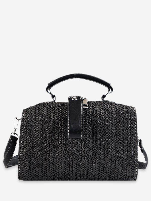 Shops Chic Straw Woven Tote Bag