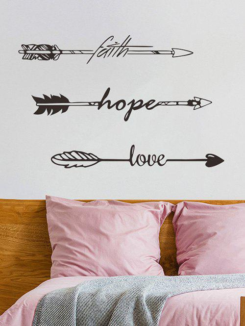 Faith Hope Love Arrow Print Wall Art Stickers