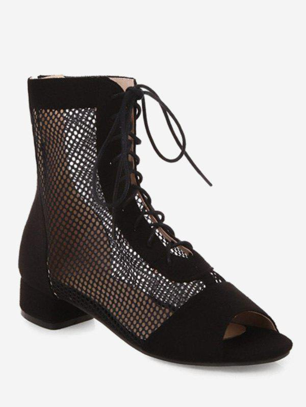 Outfit Chunky Heel Lace-up Decoration Boots