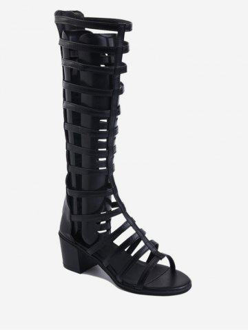 Chic Hollow Out Design Boots