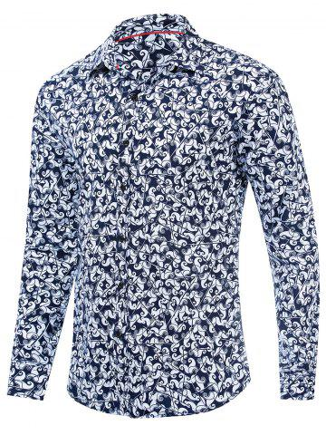Floral Design Long Sleeves Shirt