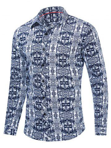 Floral Pattern Leisure Full Sleeves Shirt