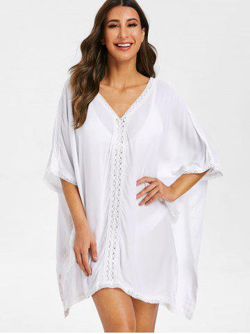 Slits Crochet Panel Cover Up