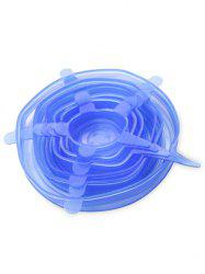 6 Pcs Silicone Stretch Bowl Covers Fruit Seal Covers -