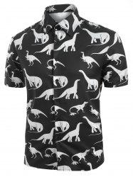 Dinosaur Pattern Casual Short Sleeves Shirt -