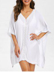 Slits Crochet Panel Cover Up -