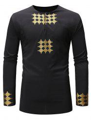 Button Decoration Long Sleeves Shirt -