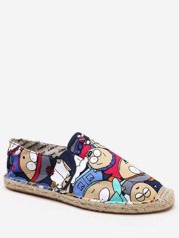 Latest Cartoon Print Espadrille Loafer Shoes