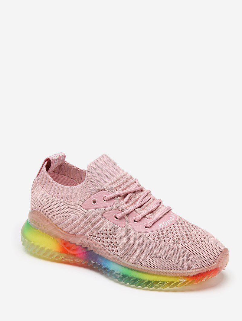 Chic Breathable Lace-up Design Sport Sneakers