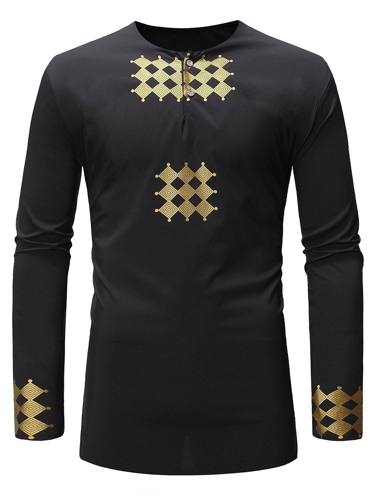 Outfit Button Decoration Long Sleeves Shirt