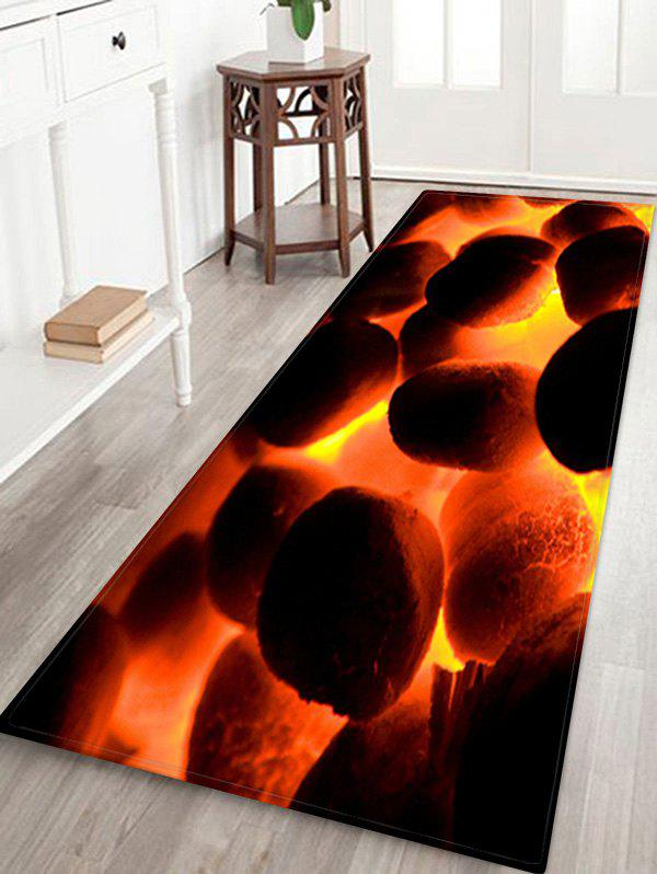 Burning Fire Pattern Water Absorption Area Rug