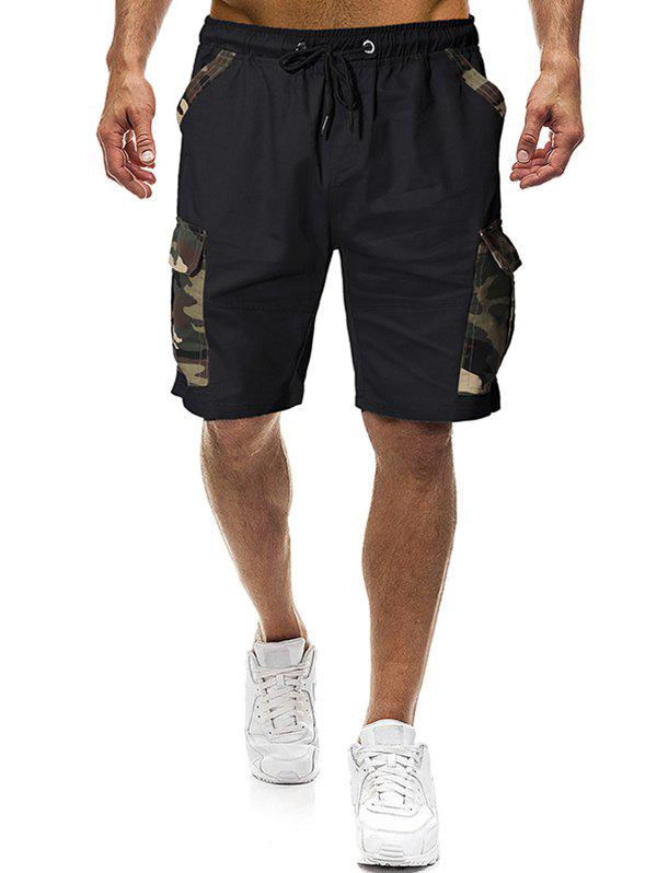 New Camouflage Print Panel Casual Shorts