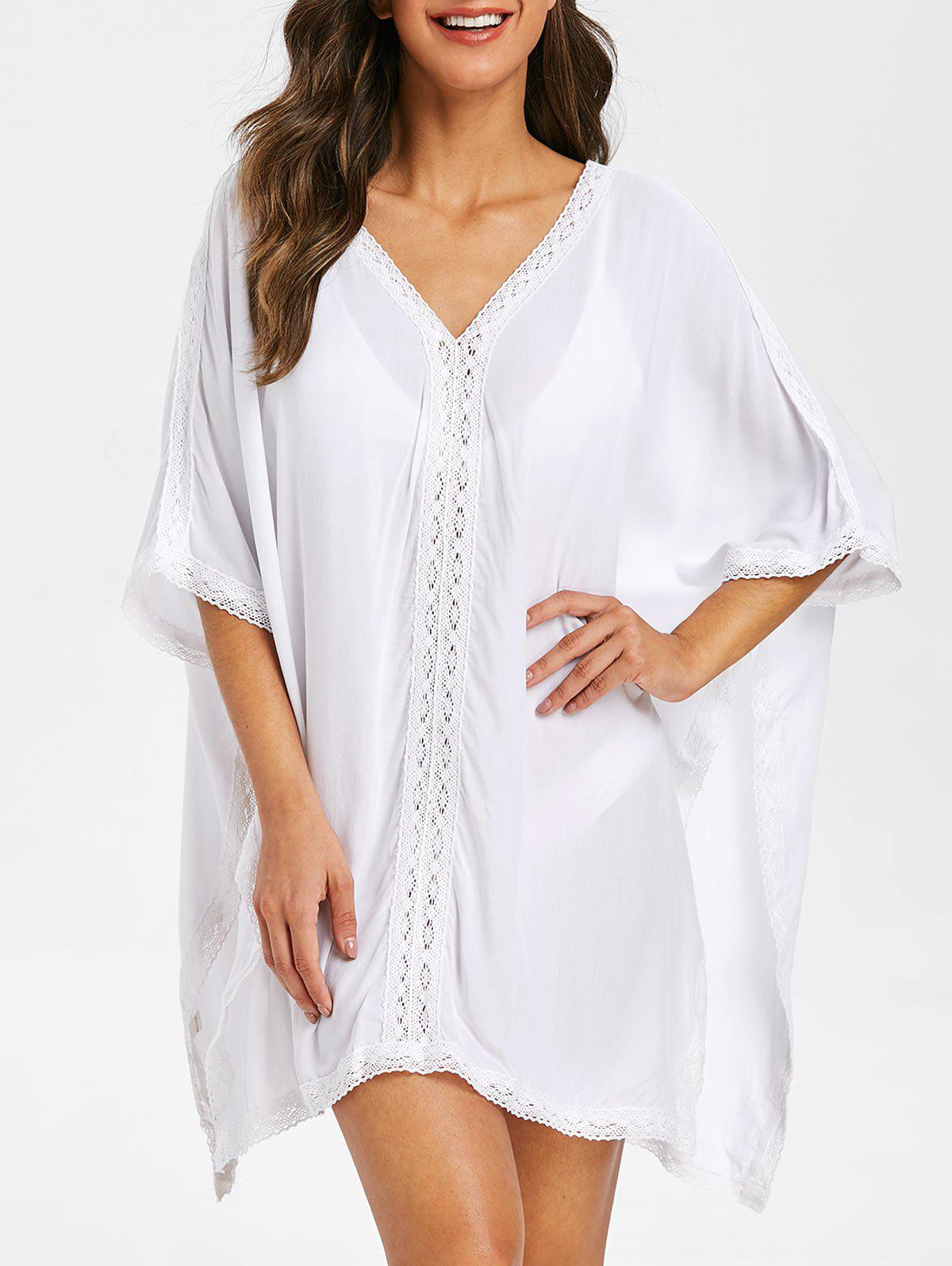 Chic Slits Crochet Panel Cover Up