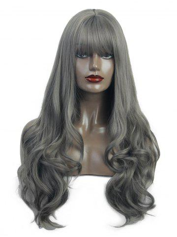 Neat Bang Long Body Wave Synthetic Wig