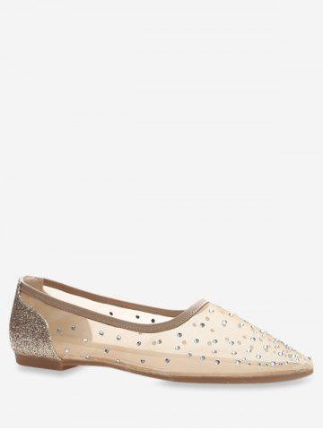 Pointed Toe Sheer Mesh Flats
