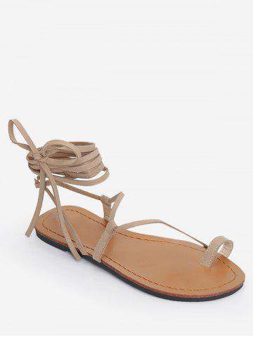 Tie Up Gladiator Flat Sandals