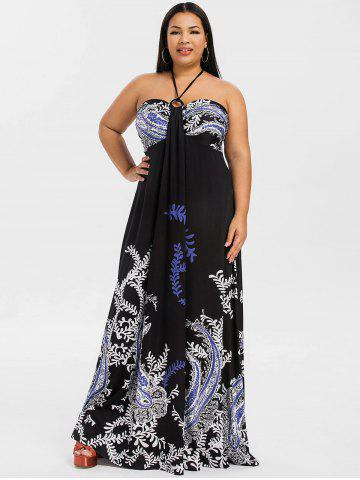 Plus Size Bohemian Maxi Dresses - V Neck, Floral And Long Cheap With ...