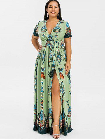 a1ff36ee4155a Plus Size Maxi Dresses - Long Sleeve, Floral, White And Black Cheap ...