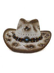 Hollow Out Design Straw Woven Hat -