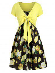 Cami Pineapple Dress with T-shirt -