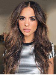 Center Part Long Body Wavy Synthetic Wig -