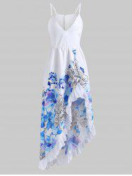 Flower Ruffle Maxi Dress -