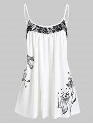 Lace Panel Flower Cami Top -