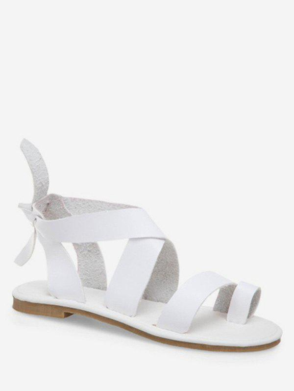 Discount Bow Cross Strap Comfortable Flat Sandals