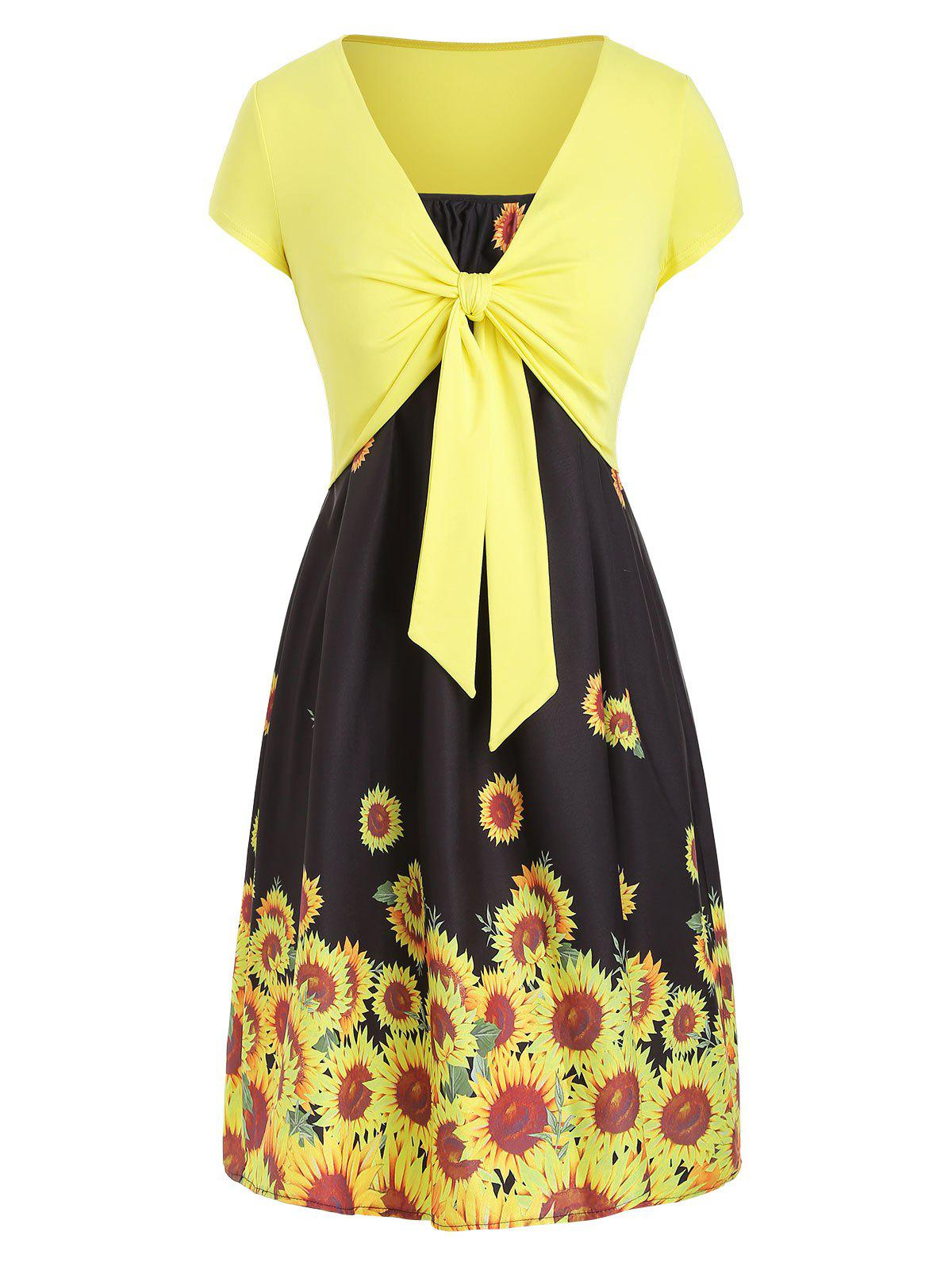 New Cami Sunflower Dress with T-shirt