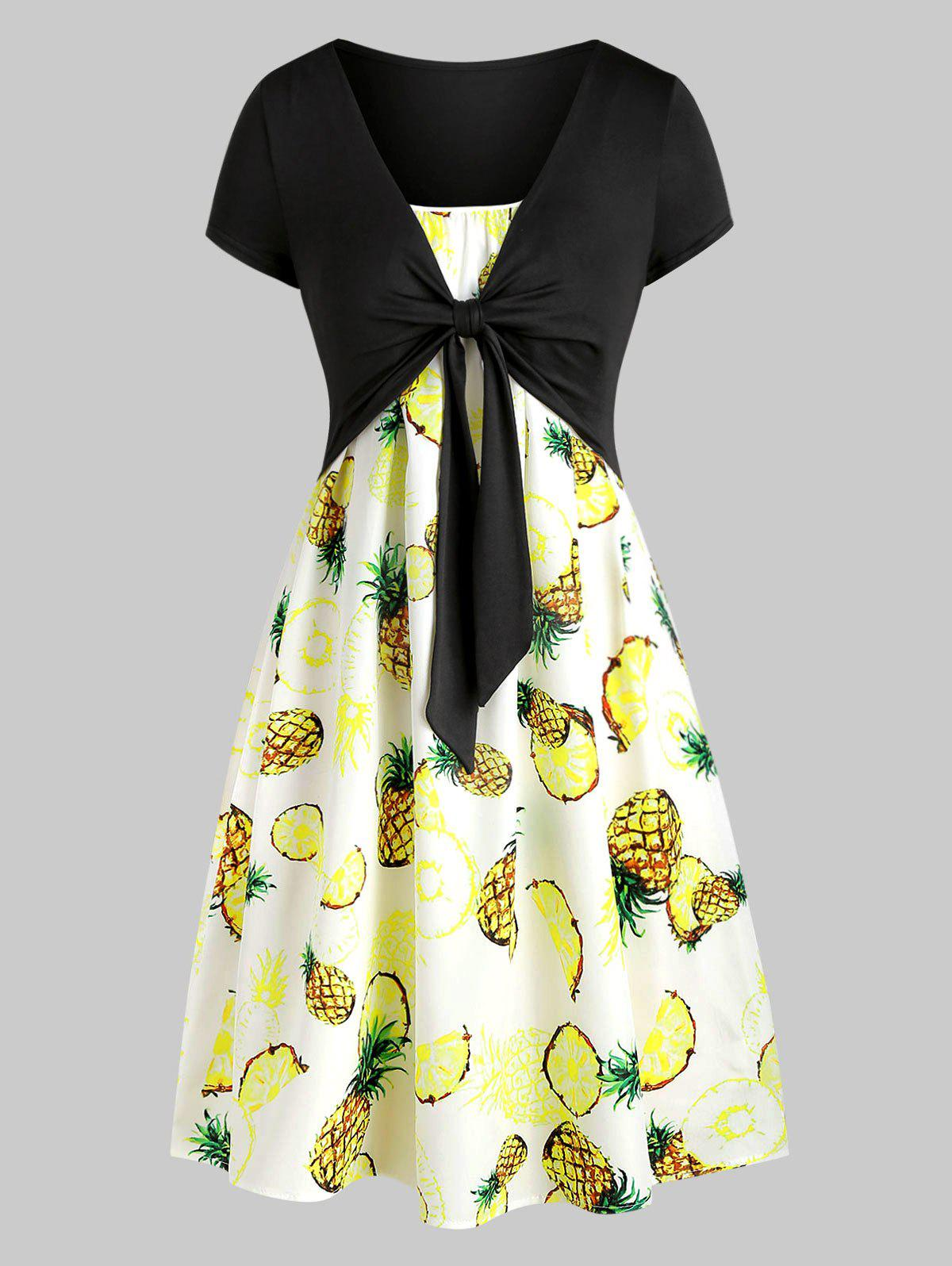 333e728a9c00 27% OFF ] 2019 Cami Pineapple Dress With T-shirt | Rosegal.com