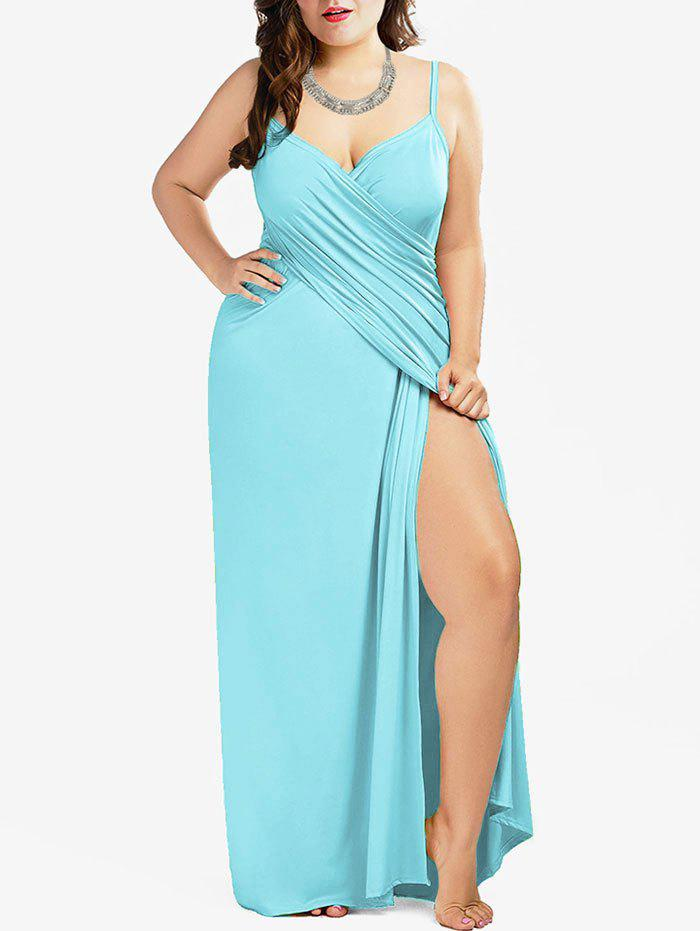 40% OFF] Plus Size Convertible Wrap Maxi Cover Up Dress | Rosegal