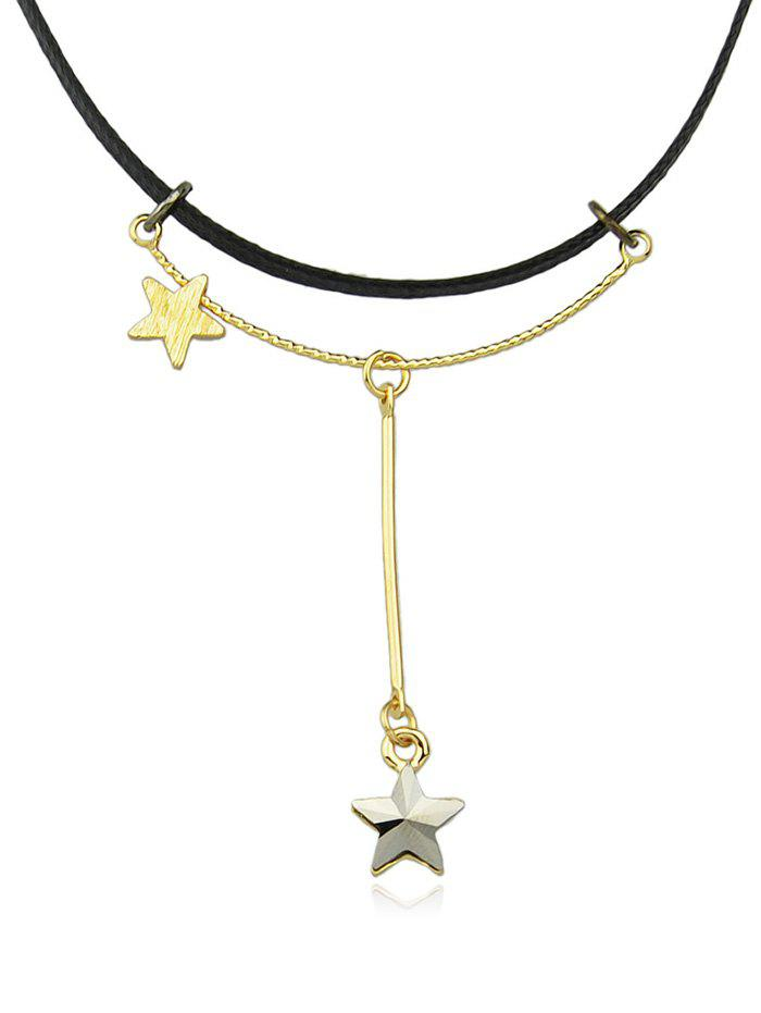New Five Pointed Star Double Layered Necklace Choker