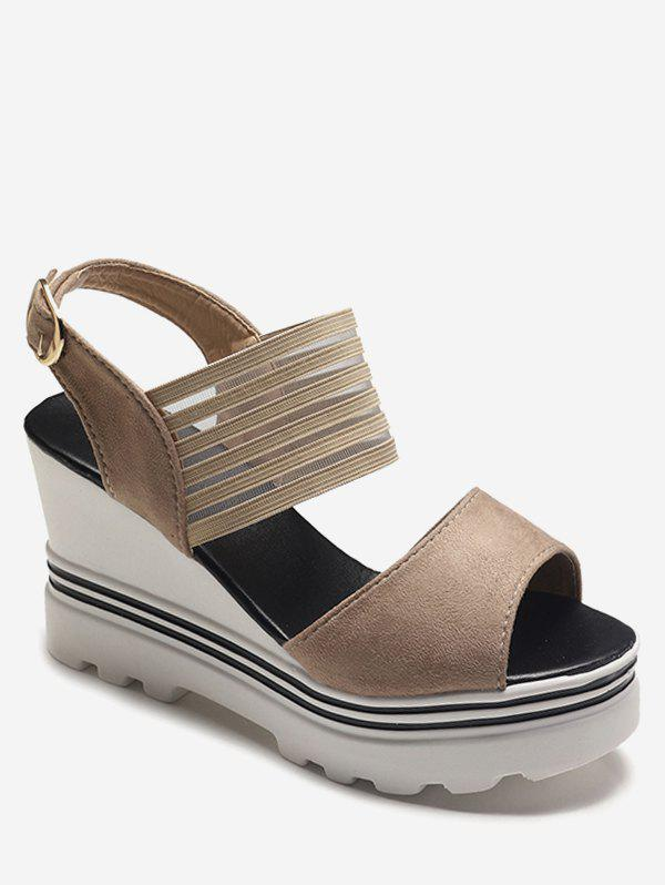 Fashion Wedge High Heel Suede Sandals