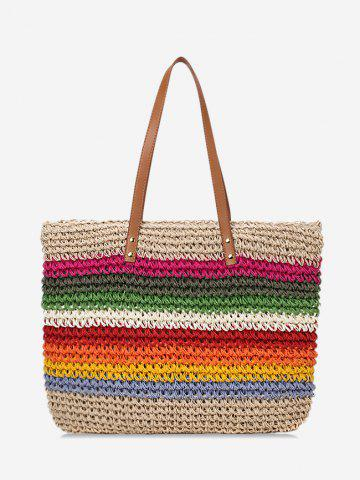 Stripe Rainbow Shoulder Bag