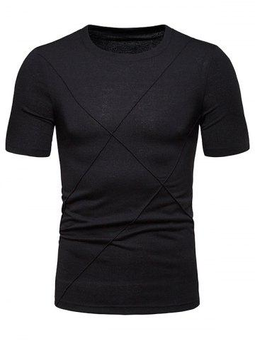 Geometric Solid Color T Shirt