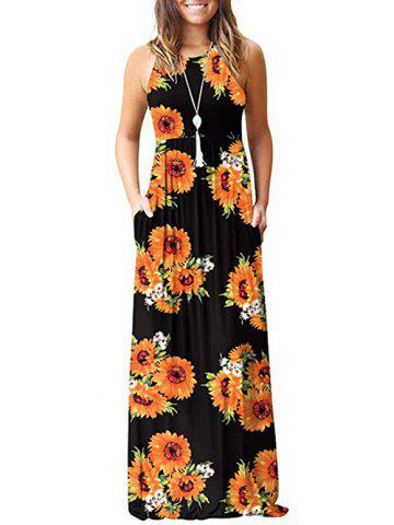 Flower Pockets Maxi Dress
