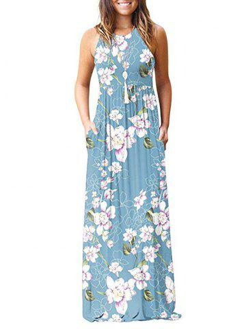 9ac40ad8f08 Flower Pockets Maxi Dress