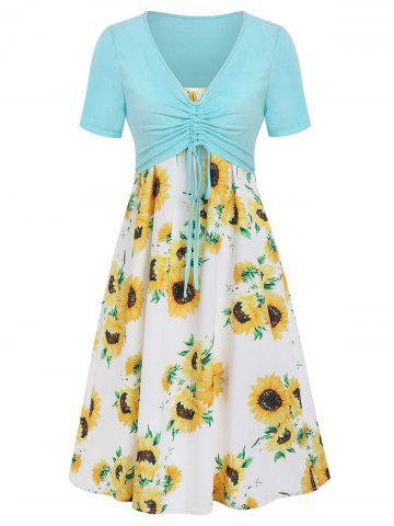 Cami Sunflower Dress with Plunging T-shirt