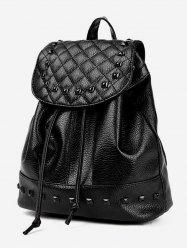 Rivet PU Soft Leather Quilted Backpack -